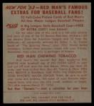 1953 Red Man #7 AL Eddie Joost  Back Thumbnail