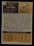 1971 Topps #26  Charlie Taylor  Back Thumbnail