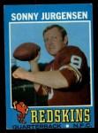 1971 Topps #50  Sonny Jurgensen  Front Thumbnail