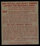 1953 Red Man #19 NL Warren Spahn  Back Thumbnail
