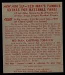 1953 Red Man #15 NL Ralph Kiner  Back Thumbnail