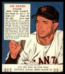 1952 Red Man #8 NL Jim Hearn  Front Thumbnail