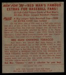 1953 Red Man #26 AL Bobby Avila  Back Thumbnail