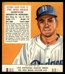 1953 Red Man #10 NL Pee Wee Reese  Front Thumbnail