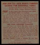 1953 Red Man #21 AL Mickey Vernon  Back Thumbnail