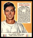 1953 Red Man #2 NL Bobby Adams  Front Thumbnail