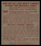 1953 Red Man #14 NL Duke Snider  Back Thumbnail