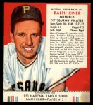1953 Red Man #15 NL Ralph Kiner  Front Thumbnail