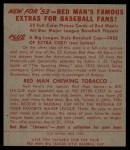 1953 Red Man #23 NL Warren Hacker  Back Thumbnail