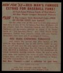 1953 Red Man #2 AL Hank Bauer  Back Thumbnail