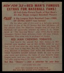 1953 Red Man #4 AL Walt Dropo  Back Thumbnail