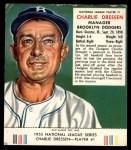 1953 Red Man #1 NL Chuck Dressen  Front Thumbnail