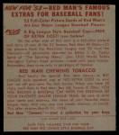 1953 Red Man #5 AL Nellie Fox  Back Thumbnail