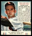 1953 Red Man #5 AL Nellie Fox  Front Thumbnail