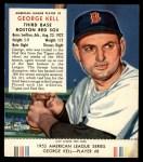 1953 Red Man #8 AL George Kell  Front Thumbnail