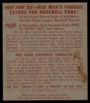 1953 Red Man #12 AL Gene Woodling  Back Thumbnail