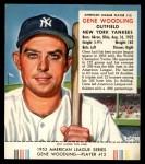 1953 Red Man #12 AL Gene Woodling  Front Thumbnail
