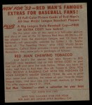 1953 Red Man #13 NL Enos Slaughter  Back Thumbnail