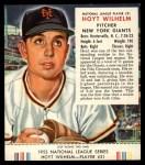 1953 Red Man #21 NL Hoyt Wilhelm  Front Thumbnail