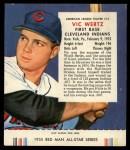 1955 Red Man #13 AL Vic Wertz  Front Thumbnail