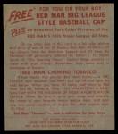 1955 Red Man #10 NL Warren Spahn  Back Thumbnail