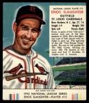 1953 Red Man #13 NL Enos Slaughter  Front Thumbnail