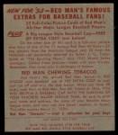 1953 Red Man #17 NL Del Ennis  Back Thumbnail
