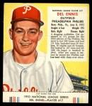 1953 Red Man #17 NL Del Ennis  Front Thumbnail