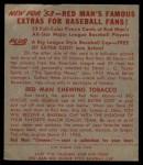 1953 Red Man #18 NL Granny Hamner  Back Thumbnail