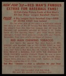 1953 Red Man #24 NL Gerry Staley  Back Thumbnail
