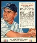 1953 Red Man #18 AL Johnny Mize  Front Thumbnail