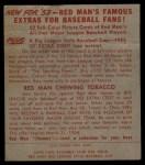 1953 Red Man #8 NL Sal Maglie  Back Thumbnail