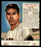 1953 Red Man #8 NL Sal Maglie  Front Thumbnail