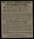 1952 Red Man #8 NL Jim Hearn  Back Thumbnail