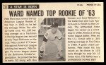 1964 Topps Giants #33  Pete Ward   Back Thumbnail