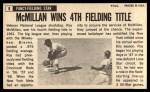 1964 Topps Giants #8  Roy McMillan   Back Thumbnail