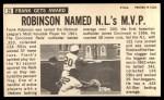 1964 Topps Giants #29  Frank Robinson   Back Thumbnail