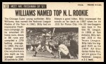 1964 Topps Giants #52  Billy Williams   Back Thumbnail