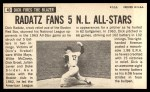 1964 Topps Giants #40  Dick Radatz   Back Thumbnail