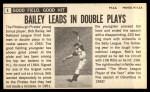 1964 Topps Giants #4  Bob Bailey  Back Thumbnail