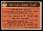 1966 Topps #139   -  Bryon Brown / Don Young Cubs Rookies Back Thumbnail