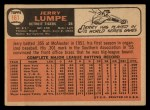 1966 Topps #161 ERR Jerry Lumpe  Back Thumbnail