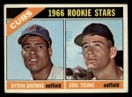 1966 Topps #139   -  Bryon Brown / Don Young Cubs Rookies Front Thumbnail