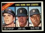 1966 Topps #218   -  Norm Cash / Tony Conigliaro / Willie Horton AL HR Leaders Front Thumbnail