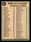 1967 Topps #244   -  Hank Aaron / Rich Allen / Willie Mays NL HR Leaders Back Thumbnail