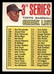 1967 Topps #191 COR  -  Willie Mays Checklist 3 Front Thumbnail