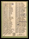 1967 Topps #191 COR  -  Willie Mays Checklist 3 Back Thumbnail