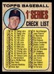 1968 Topps #67 A  -  Jim Kaat Checklist 1 Front Thumbnail
