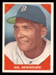 1960 Fleer #68  Hal Newhouser  Front Thumbnail