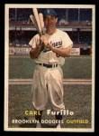 1957 Topps #45  Carl Furillo  Front Thumbnail